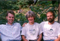 David Malkoff (left) with Lab founders Nancy Ailes and George Constantz.